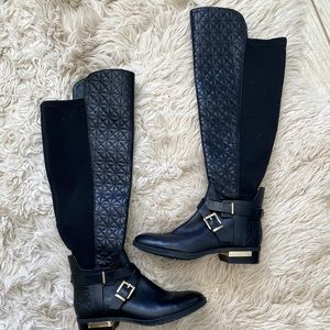 Tall black quilted Vince Camuto boots